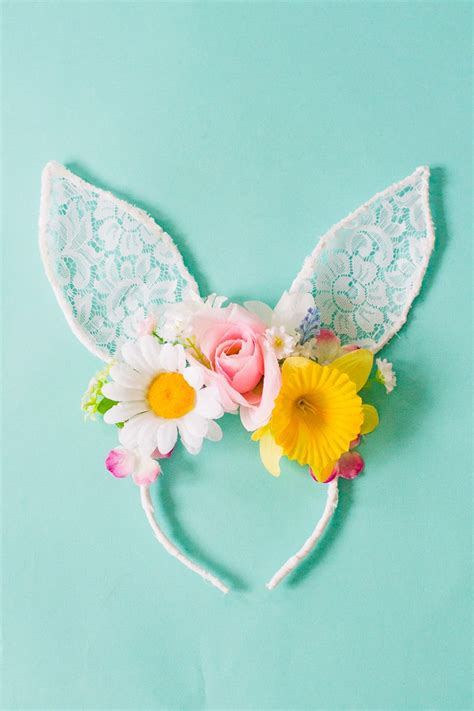 diy bunny ears diy floral bunny ears for your or flower gals tutorial lace flower and