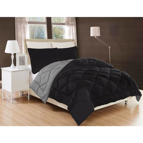 twin xl black comforter elegant comfort down alternative black and gray reversible