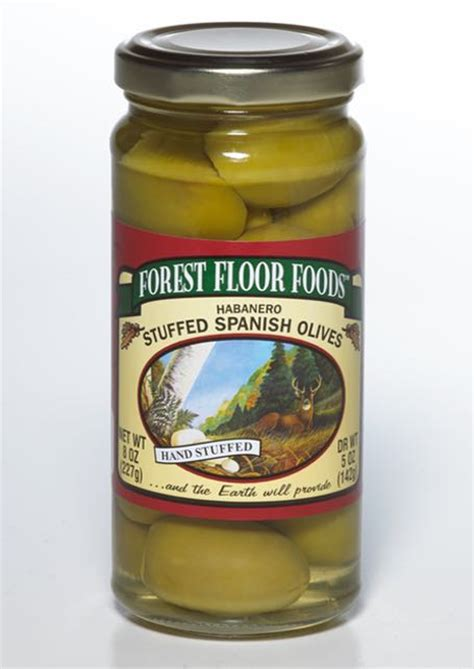 Forest Floor Foods by Habanero Stuffed Olive Forest Floor Foods