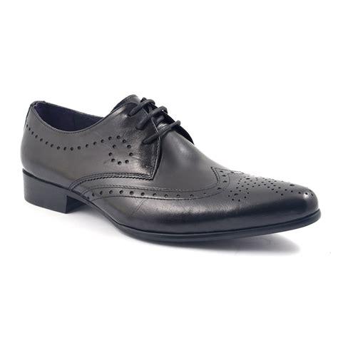 shop mens black wing tip derby shoes gucinari