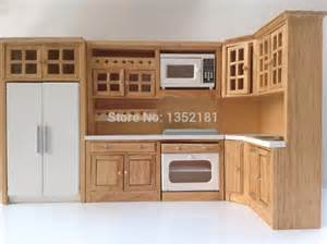 cute dollhouse miniature integral kitchen furniture set doll house kids room this