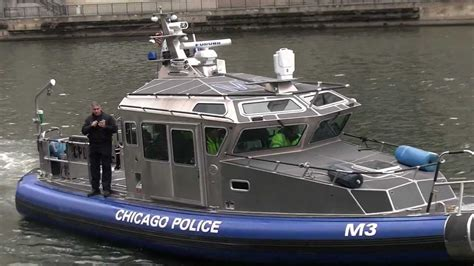 chicago river boat launch chicago police marine unit 44 foot archangel class safe