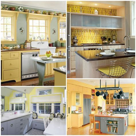 yellow and gray kitchen passion pink pearls becca s yellow and gray kitchen