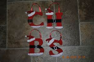 hand painted wooden santa ornaments all letters available