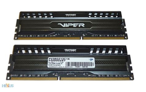 Ram Patriot Viper review patriot viper 3 ddr3 2 133 memory ram hexus net