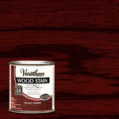 Chocolate Brown Paint by Varathane 1 2 Pt Black Cherry Wood Stain 266197 The