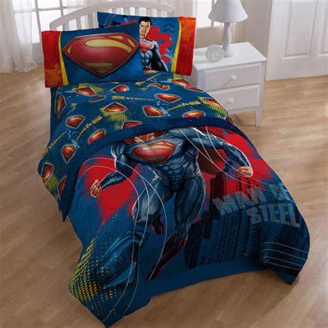superman bedroom set superman sheet set walmart com