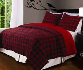Alfa img showing gt black and red plaid comforter