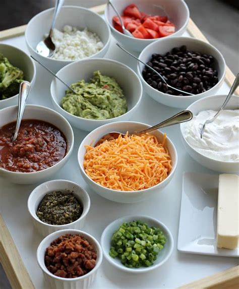 potato toppings potato bar 25 best ideas about baked potato bar on pinterest