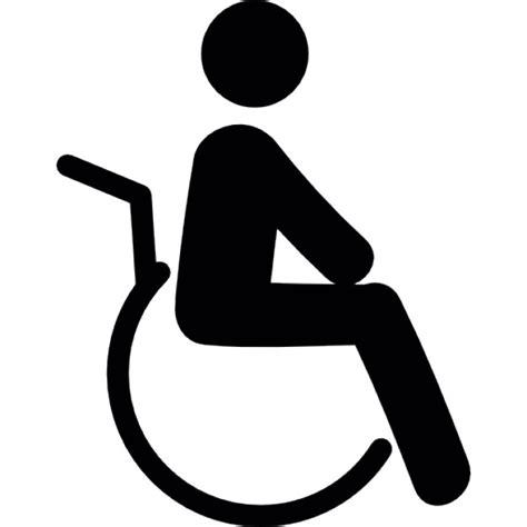 sulla sedia invalido sulla sedia a rotelle scaricare icone gratis