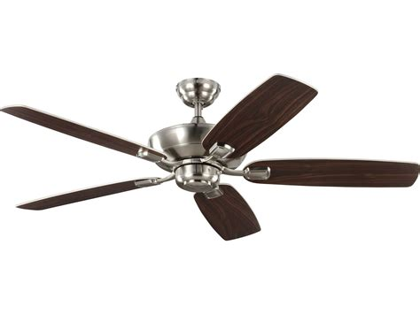 monte carlo ceiling fan monte carlo fans colony max brushed steel 52 wide indoor