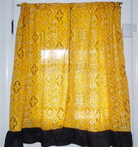 bandana curtains yellow bandana curtains with black ruffle para gae