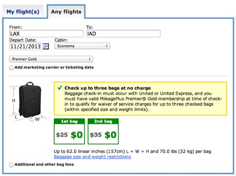 baggage fees for united united airlines reduces free checked baggage allowance for