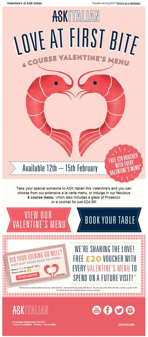 valentines email s day email marketing inspiration from ask