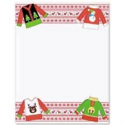 Ugly christmas sweater border papers paperdirect