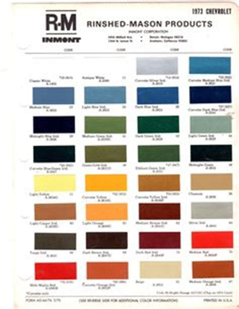 gm color chips color chips paint codes gm nymcc message board paint charts