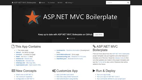 aspx net templates github asp net mvc boilerplate templates professional