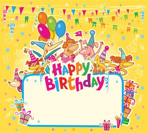 happy birthday card template with photo happy birthday card stock illustration illustration of