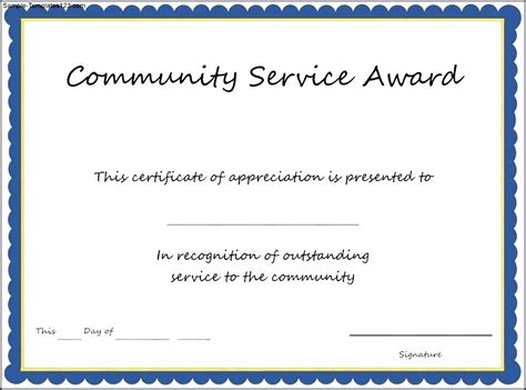 manager of the month certificate template certificate of appreciation community service image