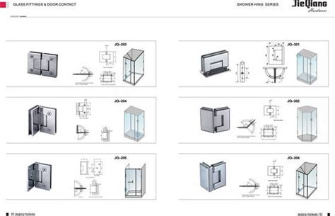 Glass Shower Door Fittings Shower Hinge Jieqiang Hardware Factory