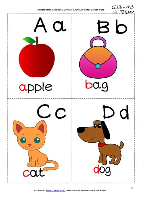 Letter Abcd alphabet picture flashcard a b c d