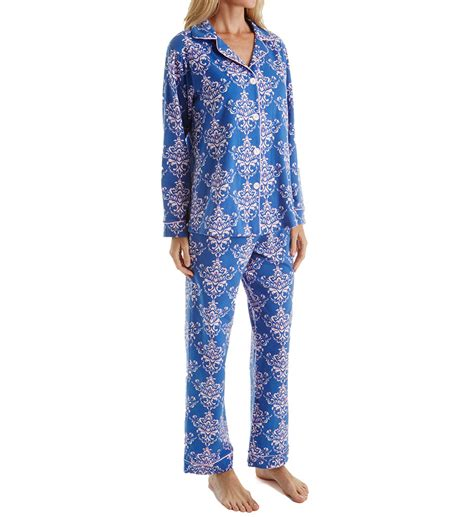 bedhead pajamas navy painted damask long sleeve pj set