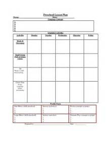 weekly lesson plan template for preschool 187 printable lesson plan template nuttin but preschool