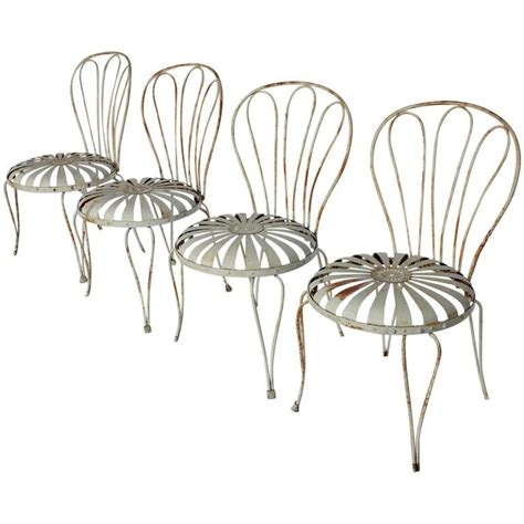 1930s french sunburst garden chairs by francois carre for