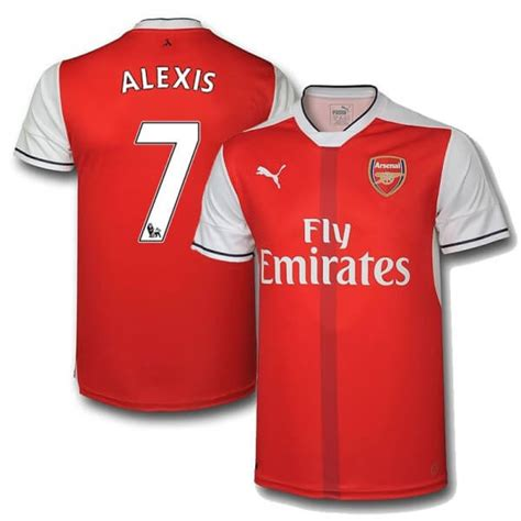 alexis sanchez kit number arsenal alexis sanchez jersey 2016 17 kit soccer shirt