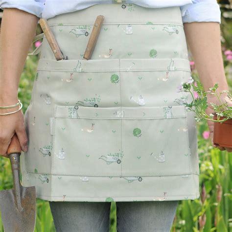 pattern gardening apron gardening apron wipe clean oilcloth pvc half apron