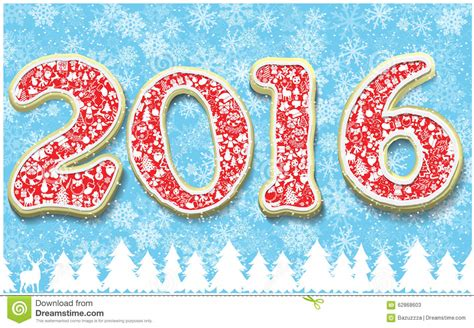new year shaped cookies creative happy new year 2016 in shape of gingerbread