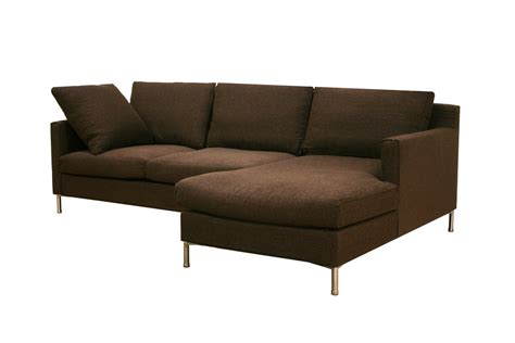 twill sectional sofa baxton studio palmyra brown twill fabric modern sectional sofa