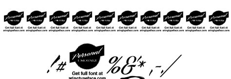 tattoo fonts billion stars billion personal use font