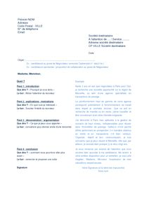 exle resume exemple cv reception
