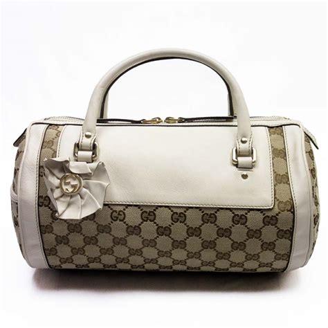 Gucci Gg Canvas Boston Mini auth gucci gg canvas mini boston bag handbag beige