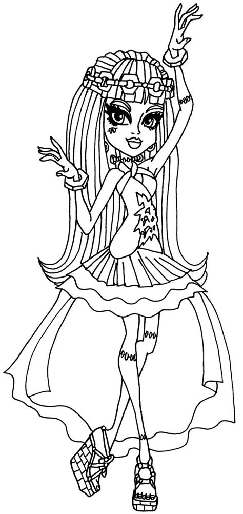 monster high coloring pages 13 wishes gigi frankie 13 wishes by elfkena on deviantart