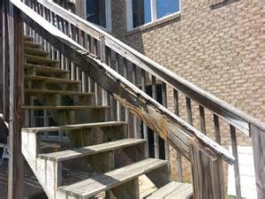 Curb Appeal On A Budget - repair deck railing and stairs