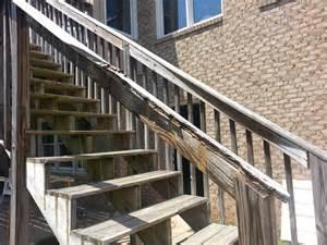 deck railing repair deck railing and stairs