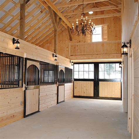 Interior Barn Lights by Stalls Precise Buildings