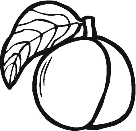 peach coloring page coloring home