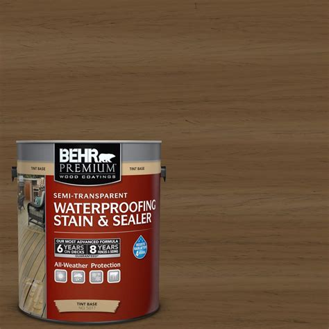 outdoor furniture stain and sealer behr premium 1 gal tint base solid color waterproofing stain sealer 501301 the home depot