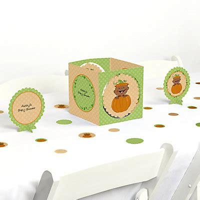 pumpkin american baby shower table