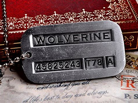 Wolverine X Logan Tag Army Necklace Kalung Tentara Xmen 1 wolverine logan army metal pendant chain tag necklace toys toys