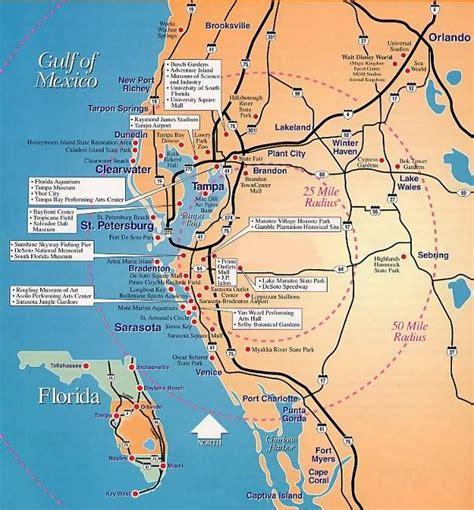 florida gulf coast map secret places location map of florida s gulf coast