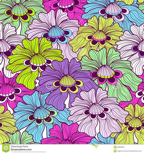 Cd Seamless Flower 3d seamless floral spotty pattern stock photo image 26995360