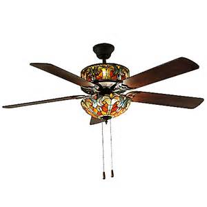 Glass Ceiling Fan Ceiling Fan With Stained Glass Light Works Ceiling Light