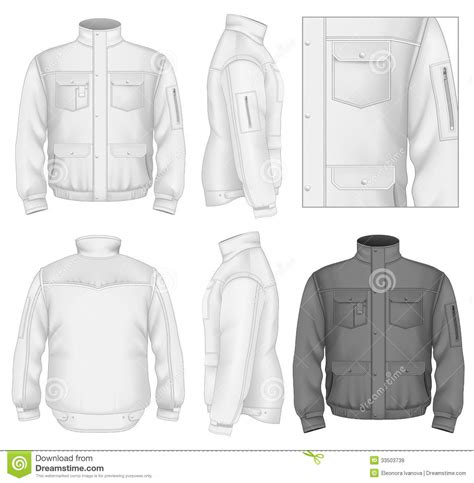 design jacket online free men s flight jacket design template royalty free stock