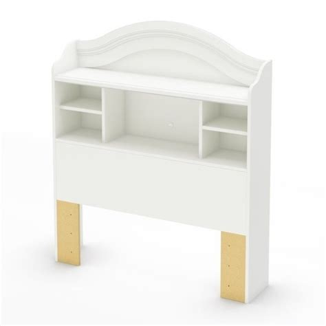 white headboard with shelves south shore handover twin bookcase pure white headboard ebay