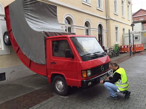 tickets to truck a german city issued a parking ticket to a bended truck