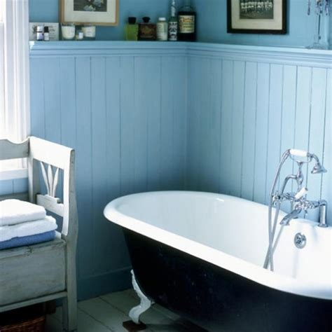 Bathroom Wall Paneling Ideas Blue And White Bathroom Traditional Decorating Housetohome Co Uk